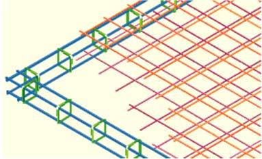 Disegno tecnico Rete TRafer del Gruppo Pittini