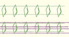 disegno tecnico rete sagomata prima e dopo l'inserimento dei tondi strutturali